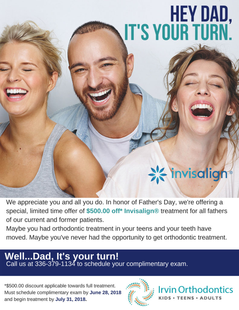 Irvin Orthodontics Fathers Day Invisalign Promotion